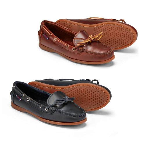 Womens Sebago Nina Waxy Leather Docksides Boating Deck Shoes