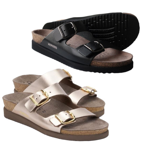 Womens Mephisto Harmony Handmade Leather Sandals