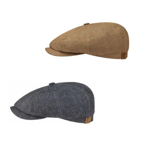 Stetson Hatteras Vintage Linen Newsboy 8-Piece Flat Cap