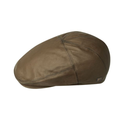 Mens Bailey of Hollywood Glasby 100% Leather 5-Panel Flat Cap