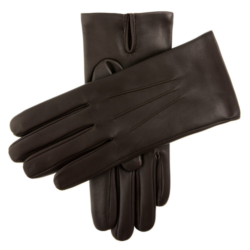 Mens Dents Bath Leather Cashmere Lined Gloves