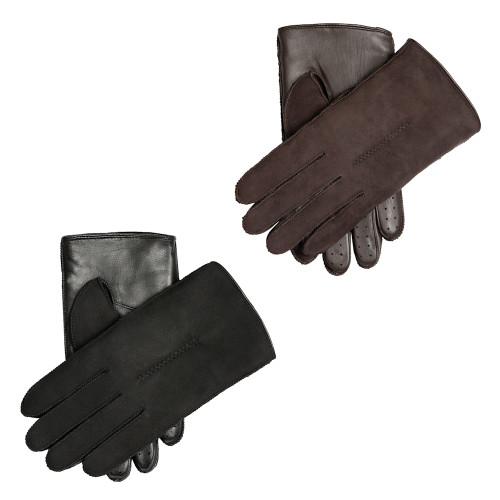 Mens Dents Pambrey Leather Sheepskin Touchscreen Gloves