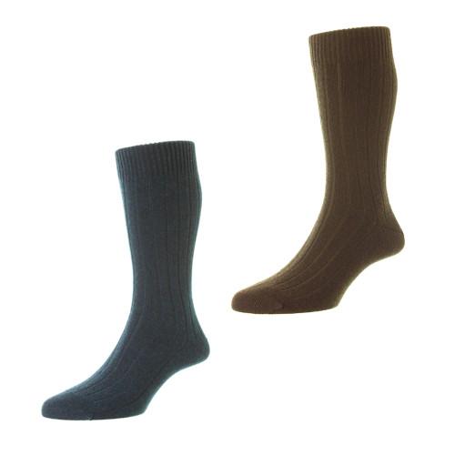 Mens Pantherella Waddington Cashmere Socks - Made in the UK