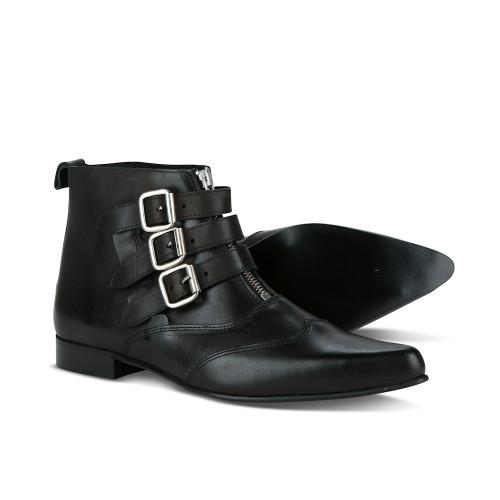 Mens Undercover Strange 3 Strap Blitz Punk/Goth Winklepicker Boots