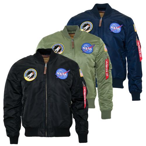 Alpha Industries Mens MA1 NASA VF Retro Flight Jacket