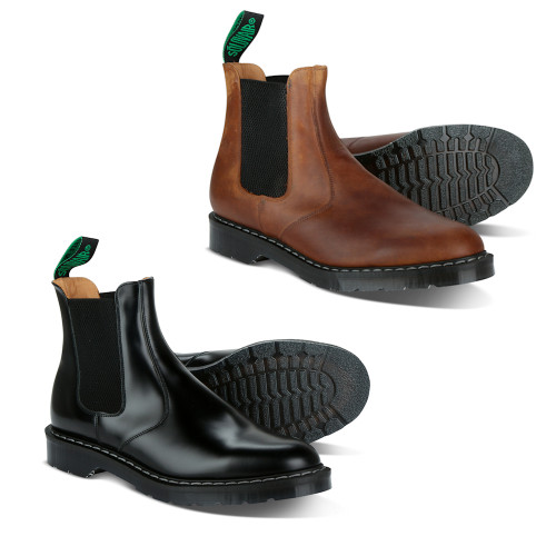 Mens Solovair Goodyear Welted Cushion Sole Dealer Boot - Made in the UK