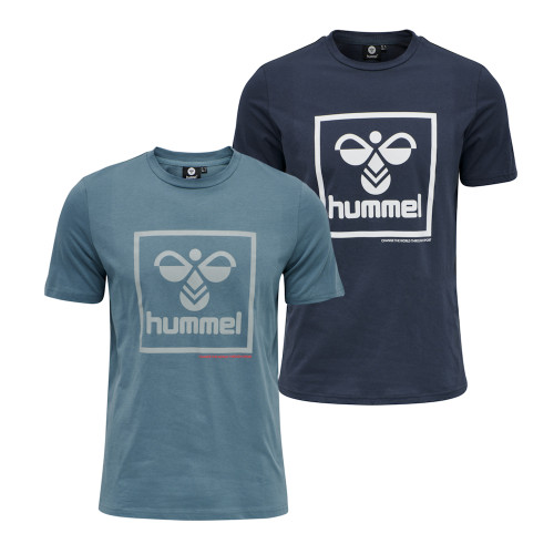 Mens Hummel Isam Retro Logo Short Sleeve T-Shirt