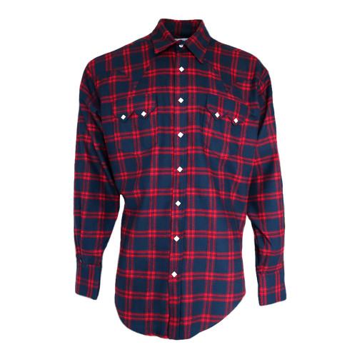 Mens Rockmount Extra Fine Plaid Windowpane Western Cowboy Shirt