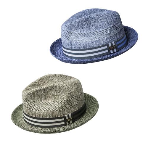 Mens Bailey of Hollywood Berle Toyo Crochet Summer Hat