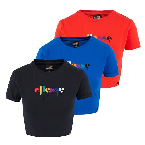 Womens Ellesse Heritage Romancia 90s Crop Logo T-Shirt