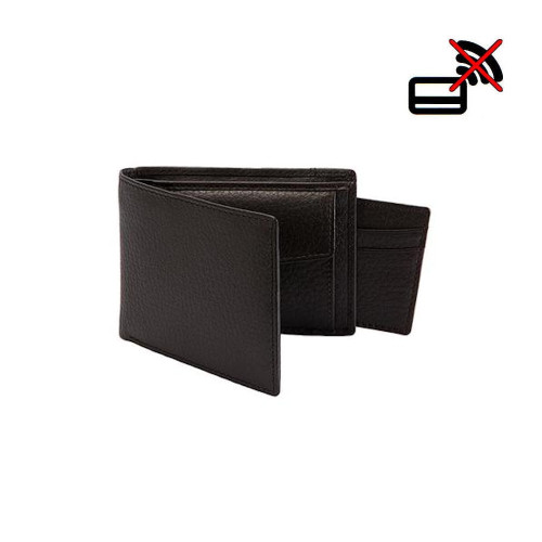 Mens Dents RFID Blocking Pebble Grain Leather Billfold Wallet