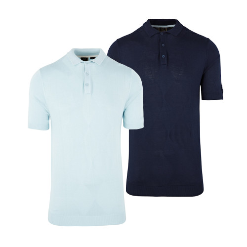 Mens Merc London Stokes Retro 60s Fine Gauge Polo