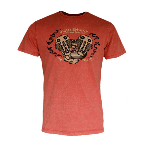 Mens Schott NYC DENNIS Retro Motor Engine T-Shirt