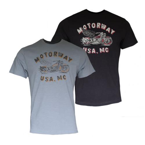 Mens Schott NYC DRISS Retro Motorbike T-Shirt