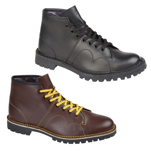 Grafters Womens Leather Original 60s Mod Monkey Boots