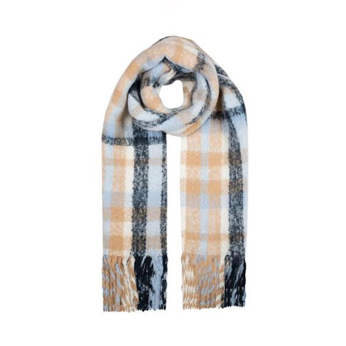 Womens Dents Checked Blanket Scarf
