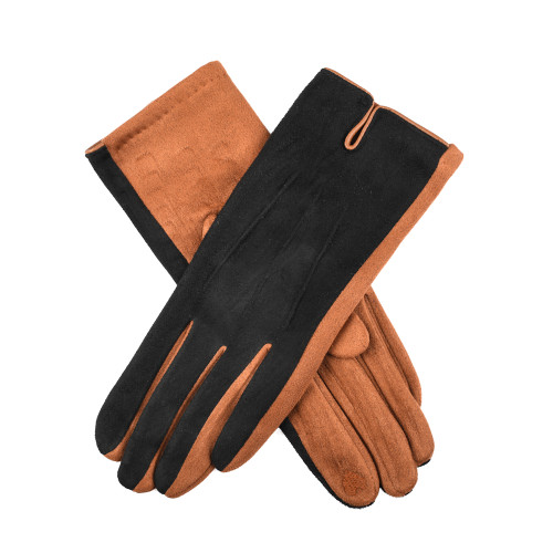 Womens Dents Classic 2-Tone Touchscreen Gloves