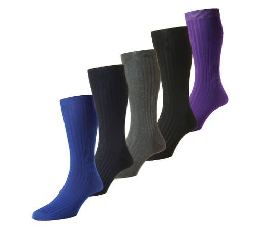 Mens Pantherella Danvers Rib Socks Made In The UK Sizes S/M/L