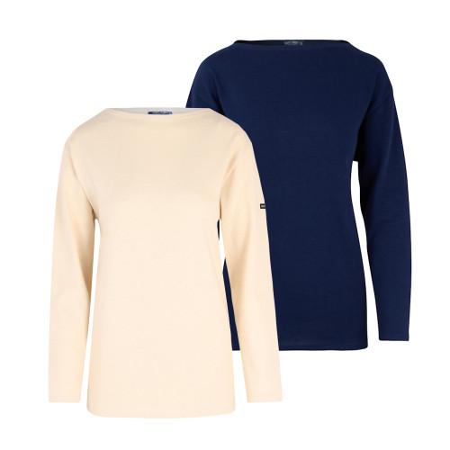 Womens Saint James Guildo Traditional Sailor 7/8 Sleeve T-Shirt