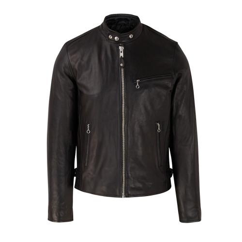 Mens Schott NYC Classic Leather Racer Cafe Jacket