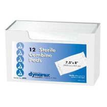 Dynarex Sterile ABD Pads 5 inch x 9 inch - Tray of 20 Pads