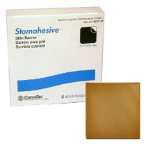 """Stomahesive Skin Barrier Without Starter Hole, 4"""" X 4"""""""