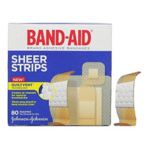 Band-aid Sheer Strip Adhesive Bandage, Assorted 80 Count