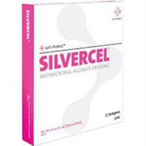 "Silvercel Antimicrobial Alginate Dressing 2"" X 2"""