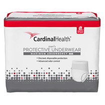 """Cardinal Maximum Absorbency Protective Underwear For Men, Large/extra Large, 45 - 58"""", 130 - 230 Lbs."""