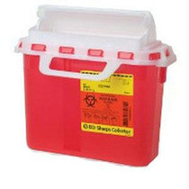 Patient/exam Room Sharps Collector,5.4 Qt. Red