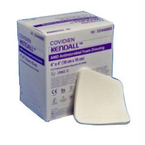 "Amd Antimicrobial Polyurethane Foam Dressing 4"" X 8"" Rectangle"