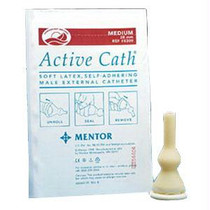 Active Cath Latex Self-adhering Male External Catheter With Watertight Adhesive Seal, 28 Mm