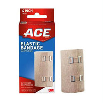"""3M™ ACE™ Elastic Bandage, with Metal Clips, 4"""" x 5 yds Stretched (2.5 yds Unstretched)"""