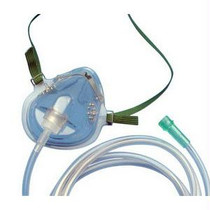 Teleflex Medium-Concentration Oxygen Mask, Elongated with Universal Tubing Connector