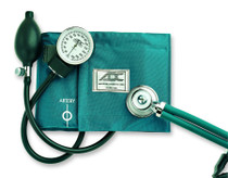 American Diagnostic Pro's Combo II™ Kit Cuff and Stethoscope Royal Blue, Latex-Free Inflation Bladder and Bulb
