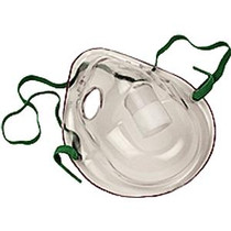 Allied Healthcare Adult Aerosol Mask with Elastic Strap and Adjustable Noseclip, Latex-free, Elongated