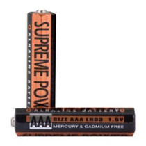 Supreme Technologies AAA Alkaline Battery, 1.5V, for External Infusion Pump Owned By Patient, 2 Count