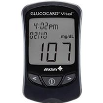 Glucocard® Vital™ Blood Glucose Meter Kit, Results in 7 sec, Auto Coding, Auto Shut Off
