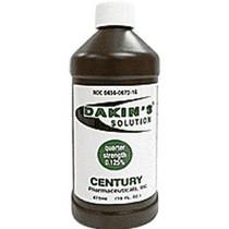 Dakin's Solution Quarter Strength 0.125%, 16 oz. Bottle