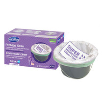 Carebag® Oxo-Biodegradable Commode Liner with Super Absorbent Pad