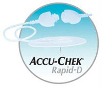 """Accu-Chek® Rapid-D Infusion Set 31"""" Tubing, 28G x 8mm Cannula, 90° Insertion Angle, Self-adhesive"""