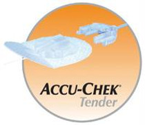 """Accu-Chek® Tender I Infusion Set 43"""" Tubing, 25G x 17mm Cannula, 20 to 45° Insertion Angle, 25G Insertion Needle, Self-Adhesive"""