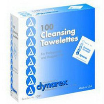 """Dynarex Cleansing Towelette, 5"""" x 7"""""""