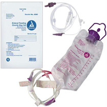 Dynarex Enteral Delivery Gravity Bag Set, with ENFit Connector, 1200cc Capacity