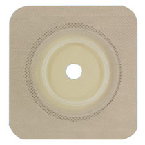 """Genairex Securi-T® USA Ostomy Wafer, Standard Wear, Cut-To-Fit, Convex, with Flexible Tape Collar, 2-3/4"""" Flange, 5""""x 5"""""""