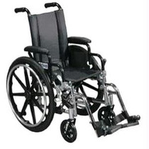 """Drive Lightweight Wheelchair Viper 14"""" Size, Black, Steel, 250 lb Weight Capacity  The Viper Lightweight Wheelchair offers a high strength lightweight carbon steel frame. It comes standard with flip-back armrests for easy transfer to and from the wheelchair. A dual axle allows for easy adjustment to hemi height and the durable, heavy guage flame retardant nylon upholstery resists mildew and bacteria. The wheel chair is protected by a limited lifetime warranty.  Steel. Black. 14"""" Size. 250 lb weight capacity. Limited lifetime warranty."""