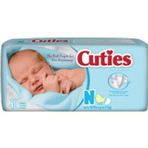 Cuties® Baby Diaper Size Newborn, Up to 10 lb