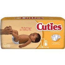 Cuties® Baby Diaper Size 1, 8 to 14 lb