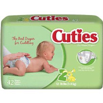 Cuties® Baby Diaper Size 2, 12 to 18 lb