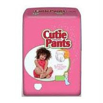 Cuties Refastenable Training Pants For Girls 3t-4t, Up To 32-40 Lbs.